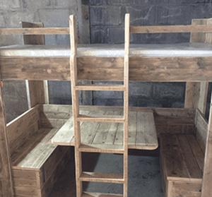Skwurl Originals Kids Steigerhout Bed Picnick