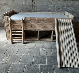 Skwurl Steigerhouten Kinderbedden Storage 180721