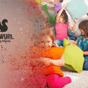 Skwurl Steigerhouten Kinderbedden Kussengevecht